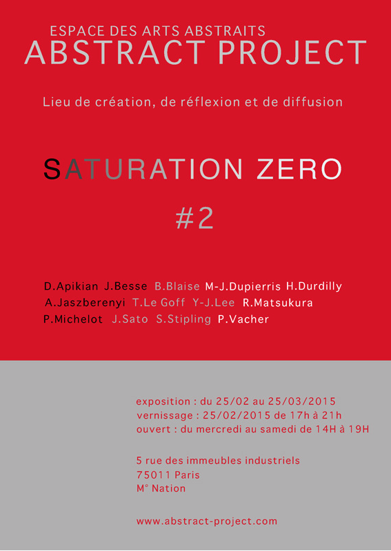 ABSTRACT PROJET - SATURATION ZERO #2